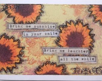 Bring me sunshine greetings card