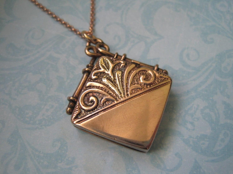 antique gold locket fob locket 1800 s original