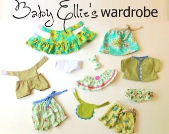 Doll Wardrobe PDF Pattern -  fits Ellie Baby Elephant
