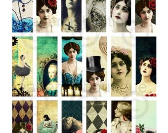 Victorian Women Vintage Ephemera 1x3 Slide, Microscope Slide Images ....Instant Digital Download