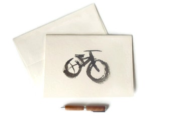bike card // hand painted card