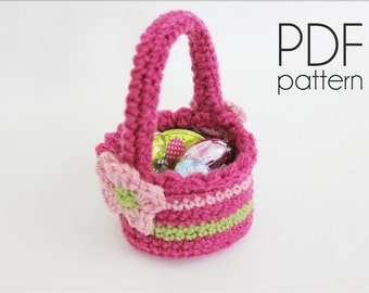 Crochet basket pattern, easter basket pattern, PDF file crochet pattern