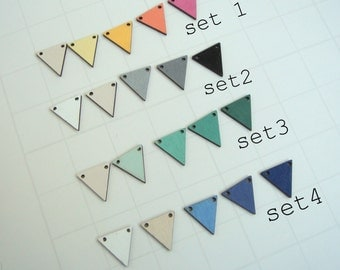 Hand painted ombre  Wood Triangles 20mm,Do it Yourself  necklace
