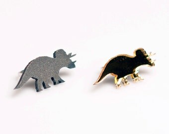 Dinosaur Ring. Triceratops Adjustable Ring. Statement Ring. Cocktail Ring. Dinosaur Jewellery. Laser Cut Perspex. Sustainable Cherry Wood