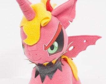 CHIBI Demon Sunset Shimmer MLP Hand-Made Custom Craft Plush
