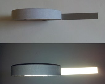 "Reflective Tape Ribbon Sew On 1"" 25 mm Promo Price reflection silver"