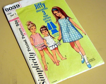 Pattern 1960s Playclothes Children Simplicity