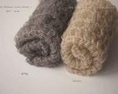 Silk Mohair Lace Wrap, Newborn Photo Prop, Newborn Mohair Wrap, Open Knit Mohair Wrap, Newborn Layering Fabric, RTS