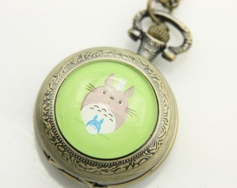 Necklace Pocket watch totoro