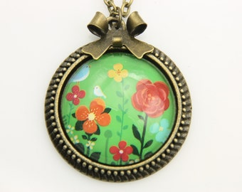 Necklace flowers  2525C