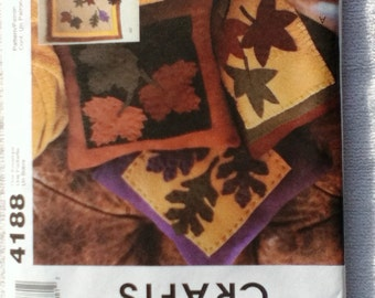 UNCUT McCall's Craft Sewing Pattern 4188 ... Autumn Wall Quilt, Pillows & Table Runner