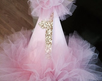 Precious pink birthday hat