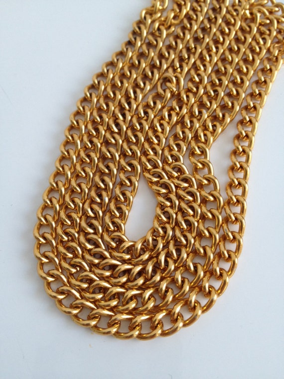 super long gold chain necklace bag chain diy project