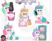 Lizzie So Pretty Unicorn  Clip art  Clipart Graphics   Commercial Use