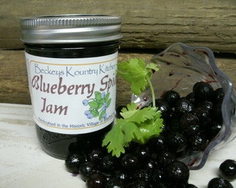 Homemade Blueberry Jam, Handmade fruit preserves, Deliciously Sweet, jam & jelly fruit spread