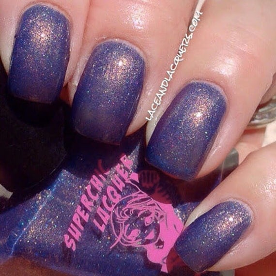 Baker's Hunger For A Bun In The Oven Nail Polish-Blue