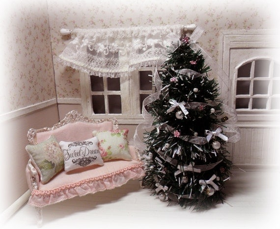 Estilo Shabby Chic Decoracion Fiestas ~ Christmas Tree shabby chic style by LasMInisdeMaini on Etsy