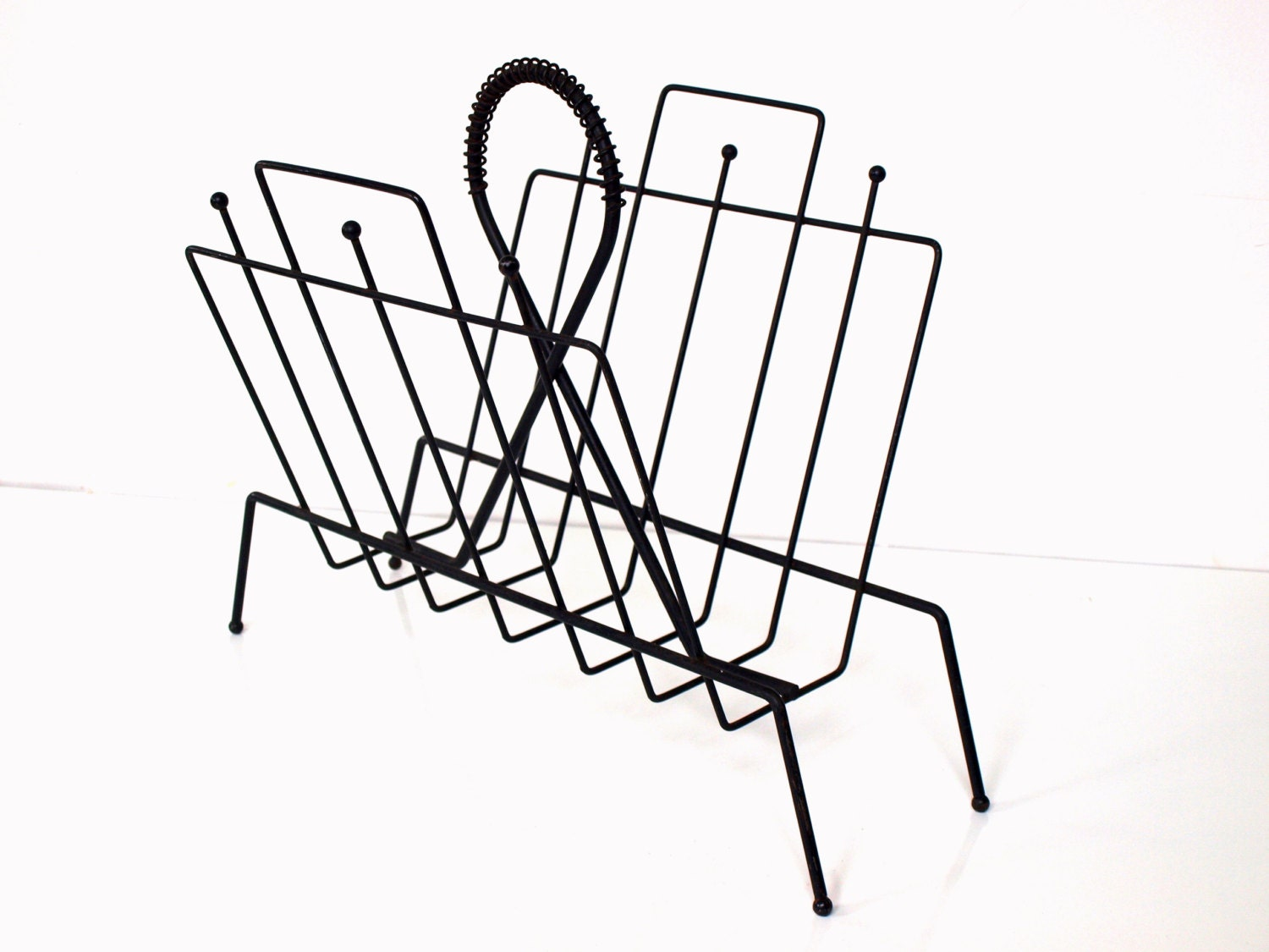 vintage wire magazine rack by thevintageshopkeeper on etsy. Black Bedroom Furniture Sets. Home Design Ideas