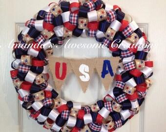 Americana U.S.A Wreath
