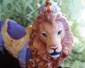 1990 Lenox Carousel Regal Lion Collectible, Exquisite Like New, NO box