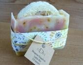 Litsea Cubeba Loofah Bar Soap - All Natural - Handmade - Cold Processed - VEGAN - Small Batch