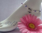 Remembrance Bracelet, Anket, In Memory Jewelry, Birthstone Bracelet, Ankle Bracelet Personalized