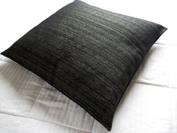 Large Decorative Pillows Floor : Black Floor Pillow Large Floor Pillow cover Decorative Throw