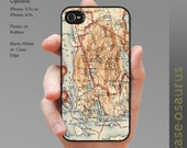Vintage Acadia National Park Map iPhone Case for iPhone 6, iPhone 5/5s, iPhone 5c, iPhone 4/4s, Samsung Galaxy S5, Galaxy S4, Galaxy S3