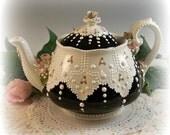 Vintage Lace Teapot