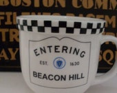 Coffee Mug Entering Beacon Hill  We Ship Internationally
