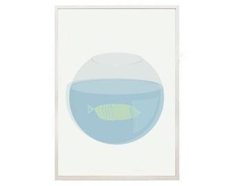 Fish Print 2 -Fish Illustration- summer art print - Art print by nicemiceforyou