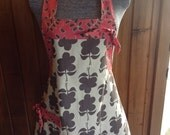 On Sale - Full Apron with Pocket and Bow accents