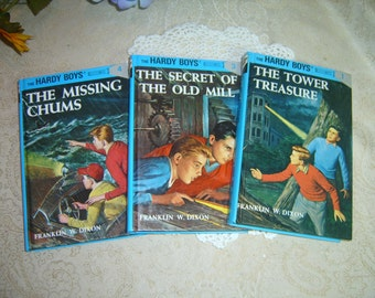 3 Hardy Boys Chapter Books - Numbers 1,3,4 - Classics