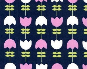 Cool Cords - Corduroy Tulips Midnight - 1 Yard Cut