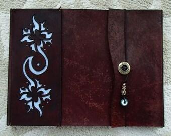 Leather Sketchbook, Refillable Sketchbook, Blue Hawaiian - leather  journal, leather bound, refillable, guest book, sketchbook cover