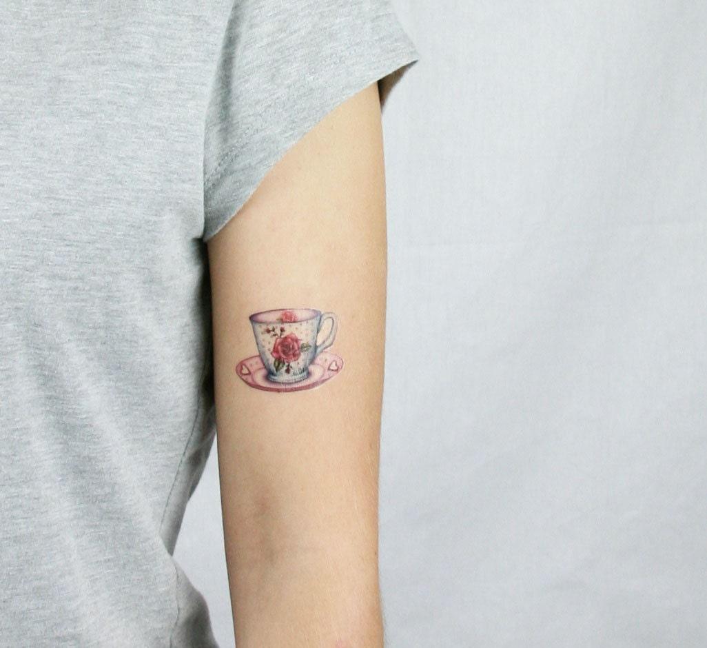 Teacup Tattoo Coffee Tattoos: Tea Temporary Tattoo Coffee Temporary Tattoo Teacup