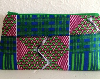 Small Cosmetic Bag/Gadget Pouch - African Fabric