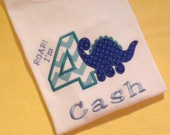 Dinosaur Birthday T-Shirt or Bodysuit
