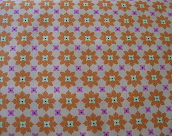 Tiny Flower fabric in Tangerine from Michael Miller 1 yard