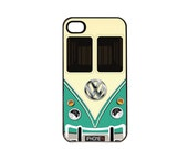 Volkswagen Bus Van Tan and Teal iPhone 4 4s, iPhone 5 5s 5C, iPhone 6 6 Plus, IPOD 5G, Hardshell, Silicone, 2-in-1 Protective Case