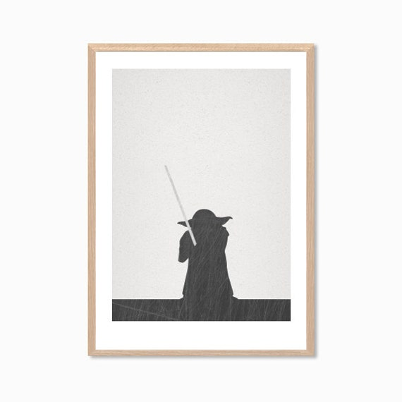 STAR WARS | Master Yoda : Modern Illustration Retro Art Wall Decor Print