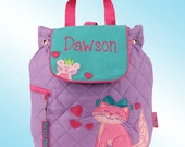 Quilted Backpack - Personalized and Embroidered - CAT AND MOUSE