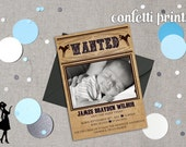 Birth Announcement - LITTLE OUTLAW Printable