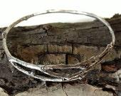 Elm Tree Twig Bracelet Sterling Silver