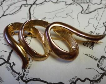 Vintage Rose Gold Brooch