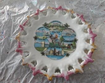 Vintage Windsor Canada Souvenir Plate