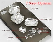 10PCS Rectangle Shape clear crystal Jewelry  Accessories ( 7Sizes Optional )