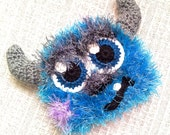 Crochet Sully Hat Monsters Inc Inspired Fluffy Furry Fuzzy Hat And/Or Matching Diaper Cover Bottoms And/Or Booties