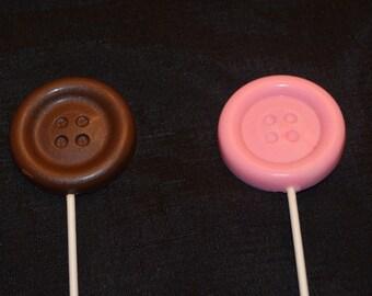 Button Lollipops -One Dozen