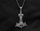 "Thors Hammer Pendant  with a 24"" Ball Chain necklace FREE SHIPPING"
